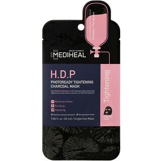 Mediheal, H.D.P., угольная тканевая маска, для повышения упругости кожи, 1шт., 25мл (0,84жидк.унции)