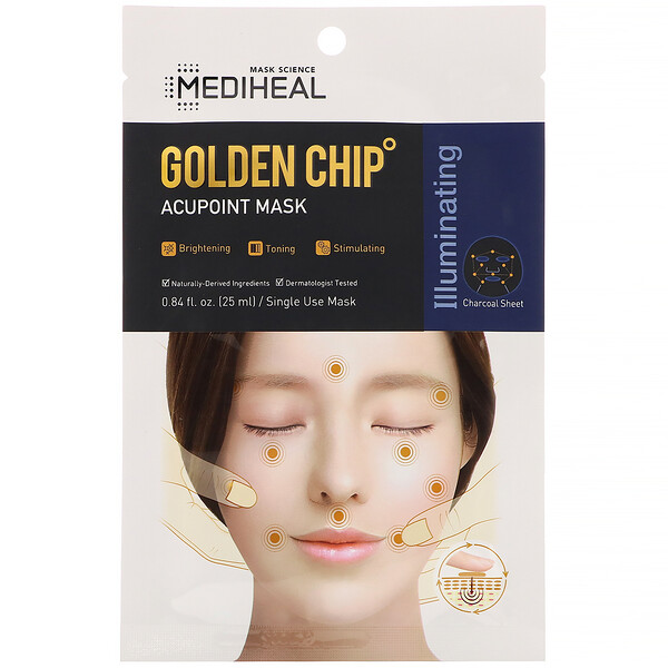 Mediheal, Golden Chip, Acupoint Mask, 1 Sheet, 0.84 fl oz (25 ml)