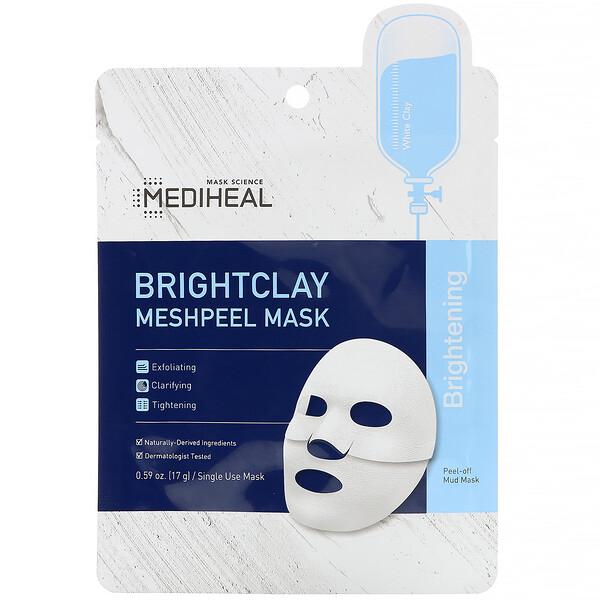 Brightclay, Meshpeel Mask, 1 Sheet, 0.59 oz. (17 g)