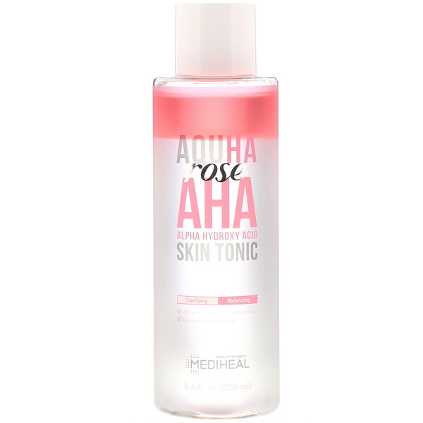 Mediheal, AQUHA Rose, AHA Skin Tonic, 8.4 fl oz (250 ml) (Discontinued Item)