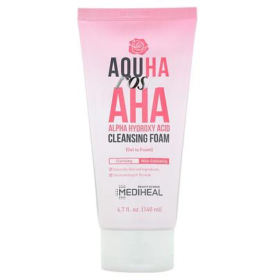 Купить Mediheal AQUHA Rose, очищающая пенка с AHA-кислотой, 140мл (4, 7жидк.унции)