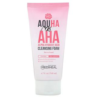 Mediheal, AQUHA Rose, AHA Cleansing Foam, 4.7 fl oz (140 ml)