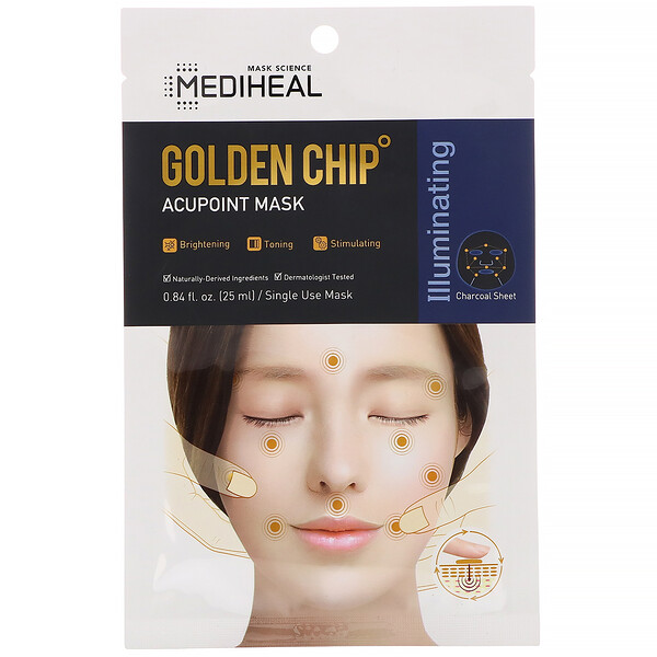 Mediheal, Golden Chip, Acupoint Mask, 5 Sheets, 0.84 fl oz (25 ml) Each