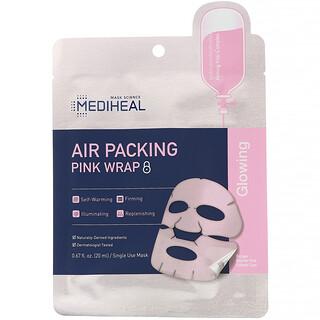 Mediheal, Air Packing, Pink Wrap Beauty Mask, 5 Sheets, 0.67 fl. oz (20 ml) Each