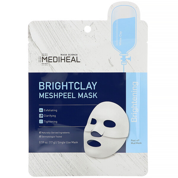 Mascarilla con malla despegable Brightclay Meshpeel, 5 mascarillas, 17 g (0,59 oz) cada una