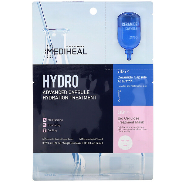 Hydro, Advanced Capsule Hydration Treatment Mask, 5 Sheets, 0.77 fl oz (23 ml) Each
