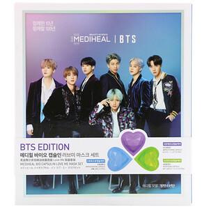 Медихил, BTS, Bio Capsulin Love Me Mask Set, 3 Sheets,  13 ml Each отзывы