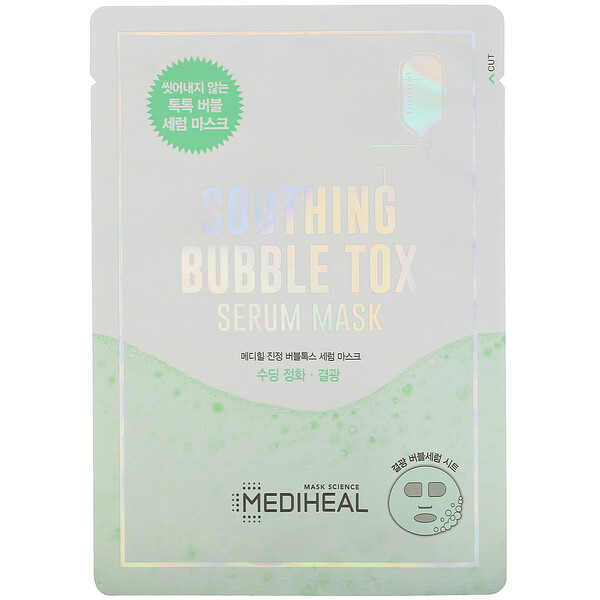 Soothing Bubble Tox Serum Mask, 10 Sheets, 18 ml Each
