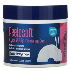Медихил, Peelosoft Eyes & Lip Cleansing Duo, 70 Pads / 45 Cotton Swabs отзывы