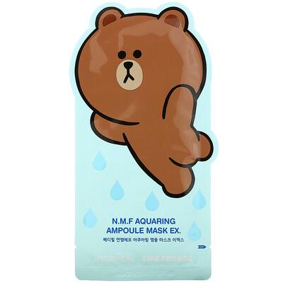 Купить Mediheal Line Friends, N.M.F Aquaring Ampoule Mask EX, 1 Sheet, 27 ml