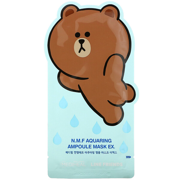 Line Friends, N.M.F Aquaring Ampoule Beauty Mask EX, 1 Sheet , 27 ml