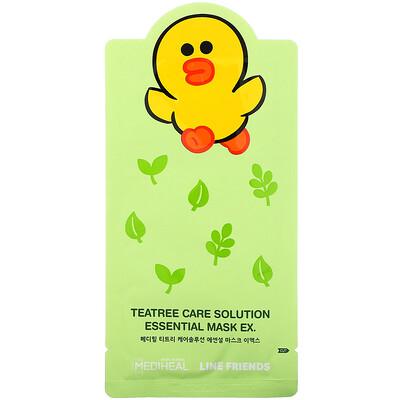 Купить Mediheal Line Friends, Teatree Care Solution Essential Mask EX, 1 Sheet, 24 ml