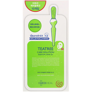 Mediheal, TeaTree Care Solution Essential Mask EX, 10 Sheets, 24 ml Each