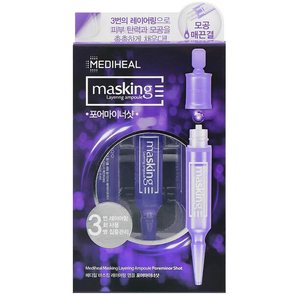 Mediheal, Masking Layering Ampoule, Poreminor Shot, 3 Ampoules  (Discontinued Item)