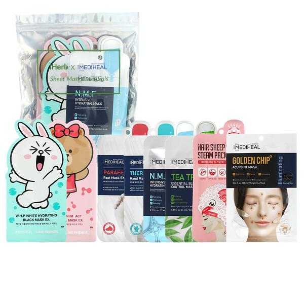 тканевые маски для красоты с незаменимыми питательными веществами, 8шт.