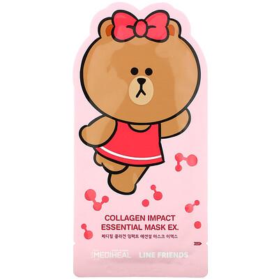 Купить Mediheal Line Friends, Collagen Impact Essential Mask EX, 1 Sheet, 24 ml
