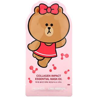 Mediheal, Line Friends, Collagen Impact Essential Beauty Mask EX, 1 Sheet, 24 ml