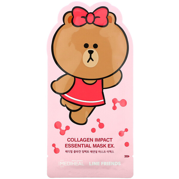 Line Friends, Collagen Impact Essential Beauty Mask EX, 1 Sheet, 24 ml