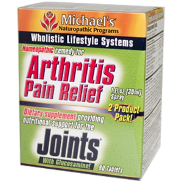 Michael's Naturopathic, Arthritis Pain Relief and Joints with Glucosamine!, 2 Product Pack (Discontinued Item)