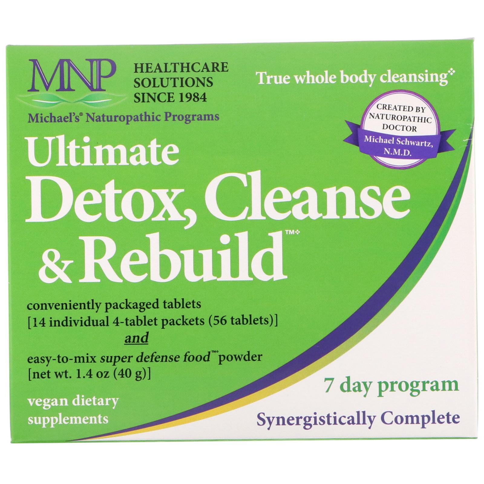 Michaels Naturopathic Ultimate Detox Cleanse Rebuild 7 Day Program
