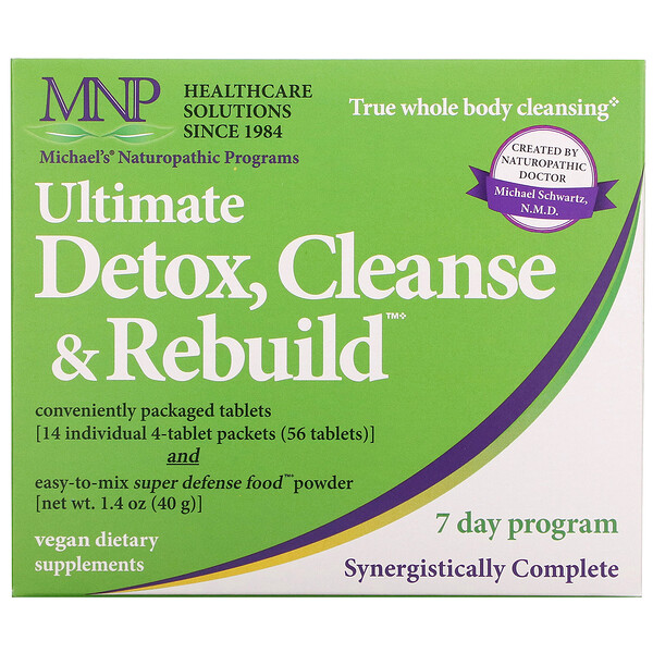 Michael's Naturopathic, Ultimate Detox, Cleanse & Rebuild, 7 Day Program (Discontinued Item)