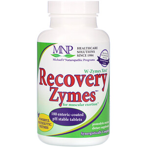 Майклс Нэчуропэтик, W-Zymes Xtra, Recovery Zymes, 180 Enteric-Coated Tablets отзывы покупателей