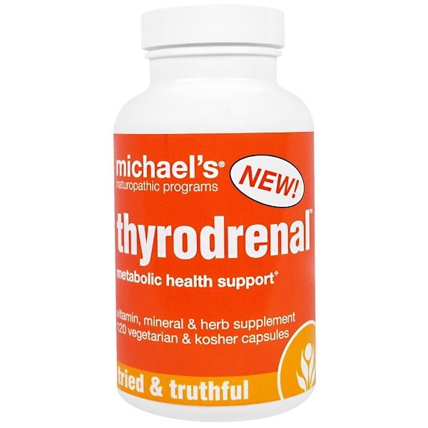 Michael's Naturopathic, Thyrodrenal, 120 Veggie & Kosher Caps (Discontinued Item)
