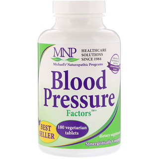 Michael's Naturopathic, Blood Pressure Factors, 180 Vegetarian Tablets