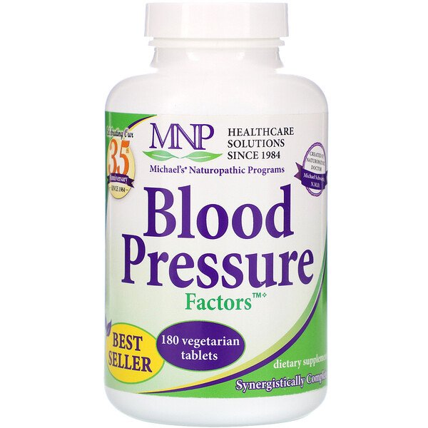 Blood Pressure Factors, 180 Vegetarian Tablets