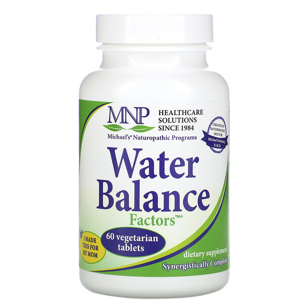 Water Balance Factors, 60 Vegetarian Tablets