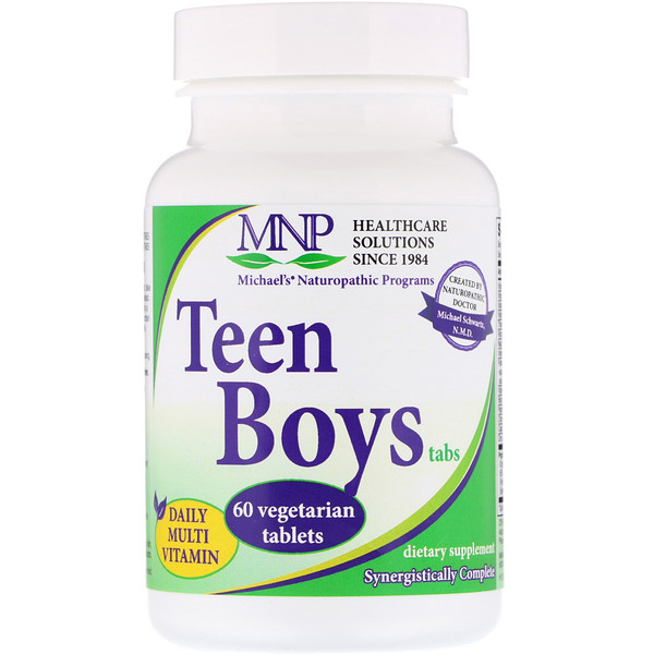Michael's Naturopathic, Teen Boys Tabs, Daily Multi-Vitamin, 60 Vegetarian Tablets