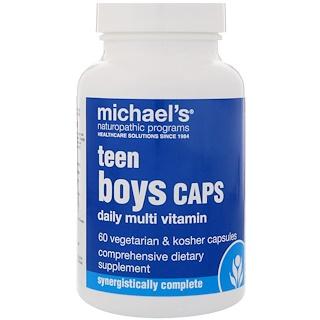 Michael's Naturopathic, ティーンボーイカプセル、デイリーマルチビタミン、植物性・コーシャカプセル60錠