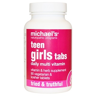 Michael's Naturopathic, Teen Girls Tabs, Daily Multi Vitamin, 90 Veggie Tabs