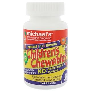 Michael's Naturopathic, Children's Chewables, Natural Fruit Flavors, 60 Chewable Veggie Wafers