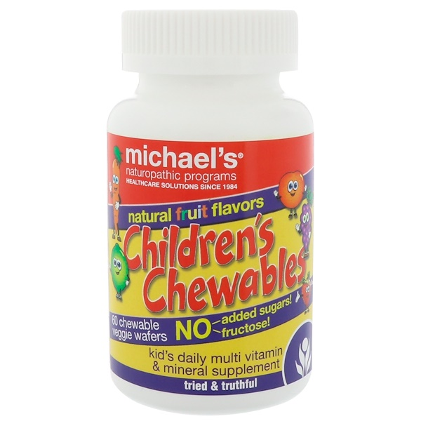 Michael's Naturopathic, Children's Chewables, Natural Fruit Flavors, 60 Chewable Veggie Wafers
