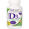 Michael's Naturopathic, Vitamin D3 with Vitamin K2, Natural Apricot Flavor, 125 mcg (5,000 IU), 90 Vegetarian Chewable Tablets