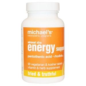 Майклс Нэчуропэтик, Adrenal Xtra Energy Support, 90 Veggie Tabs отзывы