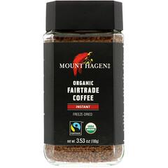 Mount Hagen, 有機公平貿易咖啡,即溶,3.53盎司(100克)