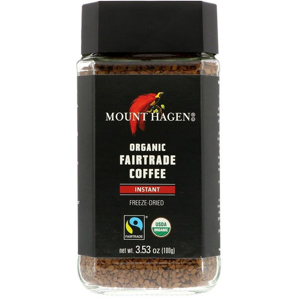 Organic Fairtrade Coffee, Instant, 3.53 oz (100 g)