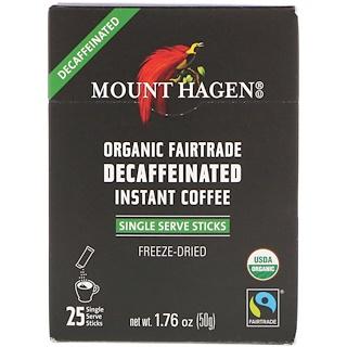 Mount Hagen, القهوة العضوية منزوعة الكافايين المصنعة وفقاً للتجارة العادلة، 25 ظرف تقديم منفرد، 1.76 أوقية (50 غرام)