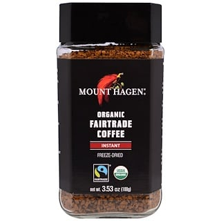 Mount Hagen, Organic Fairtrade Coffee, Instant, Freeze Dried, 3.53 oz (100 g)
