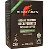 Mount Hagen, Organic Fairtrade, Decaffeinated Instant Coffee, 25 Sticks, 1.76 oz (50 g) (Discontinued Item)