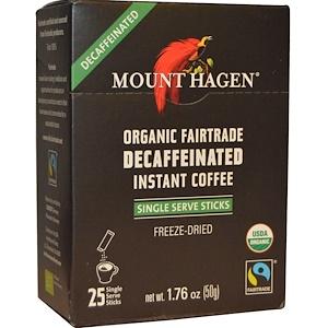 Маунт Хаген, Organic Fairtrade, Decaffeinated Instant Coffee, 25 Sticks, 1.76 oz (50 g) отзывы покупателей