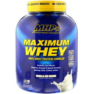 Maximum Human Performance, LLC, Maximum Whey, Vanilla Ice Cream, 5 lbs (2270 g)