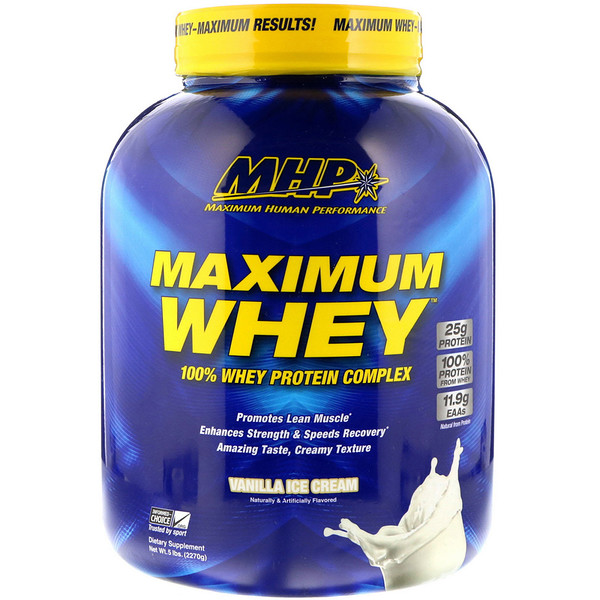 Maximum Whey, Vanilla Ice Cream, 5 lbs (2270 g)