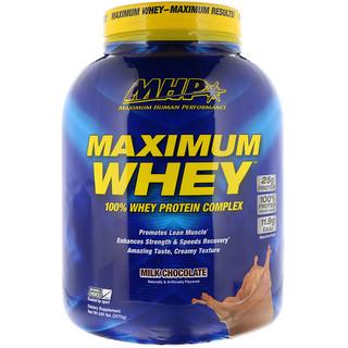 Maximum Human Performance, LLC, マキシマムホエイ、ミルクチョコレート、5.01 lbs (2275 g)