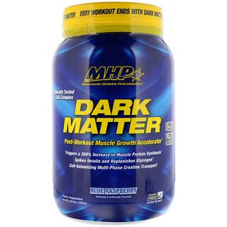 Maximum Human Performance, LLC, Dark Matter, Post-Workout Muscle Growth Accelerator, Blue Raspberry, 3.44 lbs (1560 g)