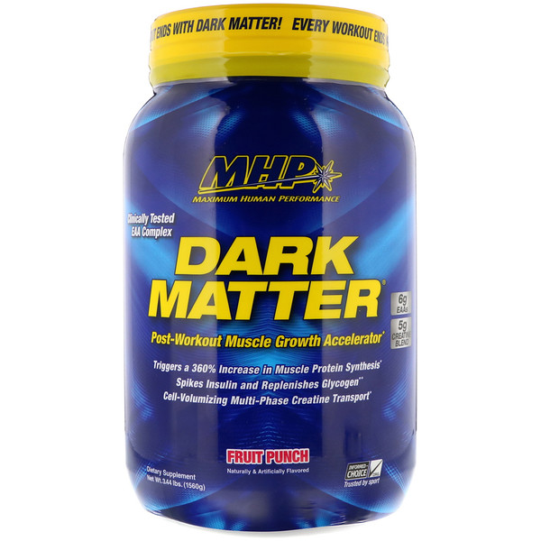 MHP, ダーク マター、ポスト・ワークアウト 筋成長のスピードアップ、フルーツパンチ、3.44 lbs (1560 g)