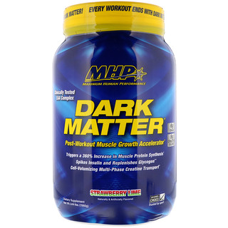 Maximum Human Performance, LLC, Dark Matter, Post-Workout Muscle Growth Accelerator, Strawberry Lime, 3.44 lbs (1560 g)