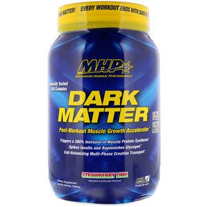 Максимум Хьюман Перворманс ЛЛС, DARK MATTER, Post-Workout Muscle Growth Accelerator, Strawberry Lime, 3.44 lbs (1560 g) отзывы